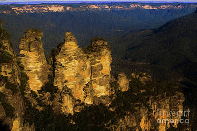 Three Sisters, Echo Point Poster by Avalon Fine Art Photography