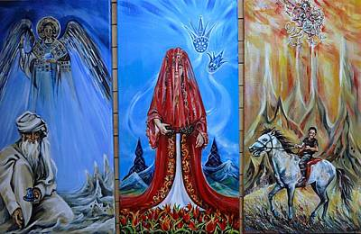 Three Symbolic Paintings About Turkey Poster by Anna Duyunova