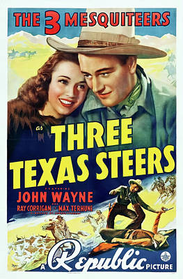 Three Texas Steers 1939 Poster by Republic