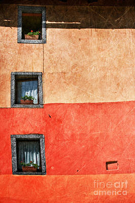 Three Vertical Windows Poster