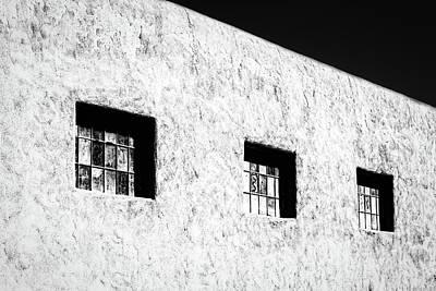 Three Windows In Taos #2 Poster by Stuart Litoff