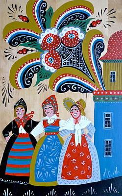 Three Women Dancing Poster