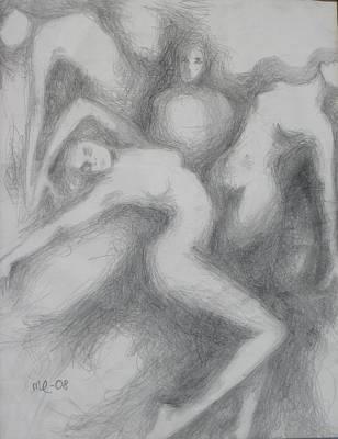Three Women Poster by Marat Essex