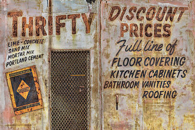 Thrifty Discount Sign Poster by Steven Bateson