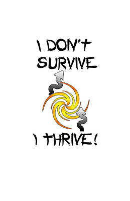 Thrive Poster by Judi Saunders