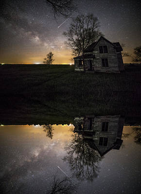 Poster featuring the photograph Through A Mirror Darkly  by Aaron J Groen