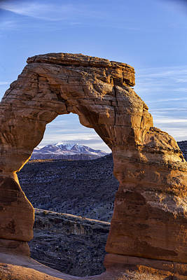 Through The Delicate Arch Poster