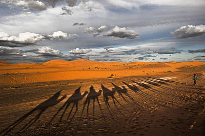 Through The Dunes Of Merzouga (morocco). Poster by Joxe Inazio Kuesta Garmendia