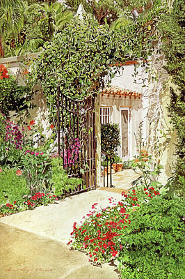 Through The Garden Gate Poster