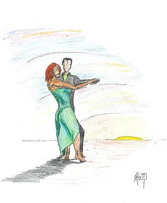 Through 'til Dawn... Sketch Poster by Robert Meszaros