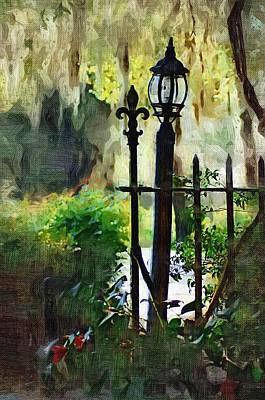Poster featuring the digital art Thru The Gate by Donna Bentley