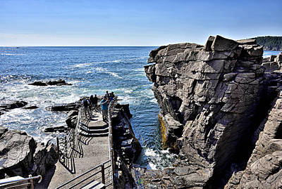 Thunder Hole - Acadia National Park - Maine Poster by Brendan Reals