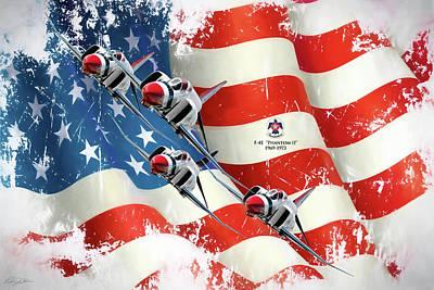 Thunderbirds F-4e Phantom II Poster
