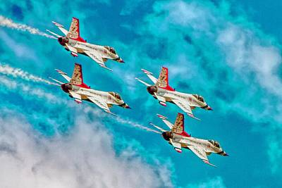 Thunderbirds In Formation II Poster by Bill Gallagher