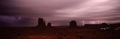 Thunderstorm Over A Landscape, Monument Poster