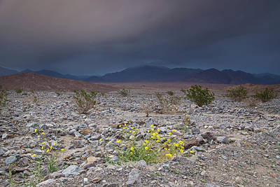 Thunderstorm Over Death Valley National Park Poster