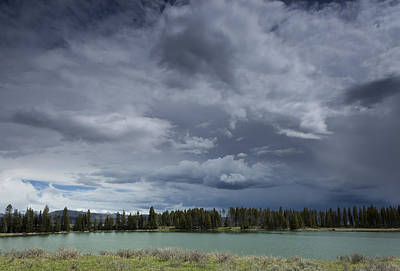 Thunderstorm Over Indian Pond Poster