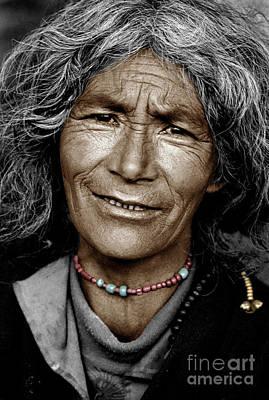Tibetan Pilgrim - Lhasa Poster by Craig Lovell
