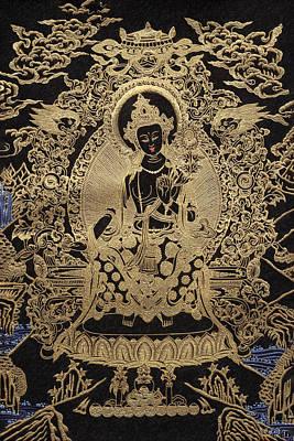 Tibetan Thangka  - Maitreya Buddha Poster by Serge Averbukh