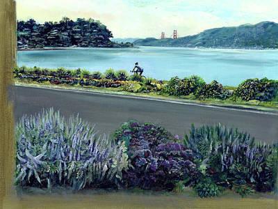 Tiburon Bike Path Poster by Graciela Placak