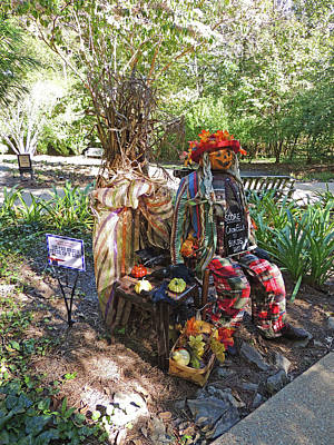 Tic-tac Crow Three In A Row Scarecrow 2 At Cheekwood Botanical Gardens Poster