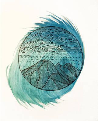 Tidal Mountains Poster by Garrett Gladden
