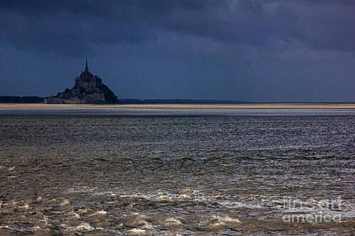 Tide In Mont Saint-michel Bay Poster