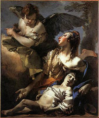 Tiepolo The Angel Succouring Hagar Poster by Giovanni Battista Tiepolo