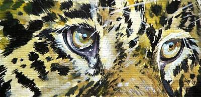Poster featuring the painting Tiger Eyes by Kovacs Anna Brigitta