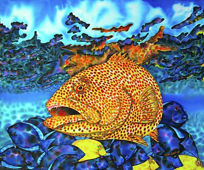 Tiger Grouper And Tang Fish Poster