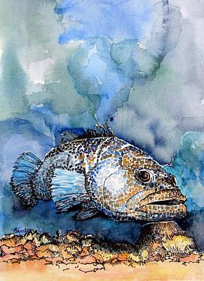 Poster featuring the painting Tiger Grouper by Terry Banderas