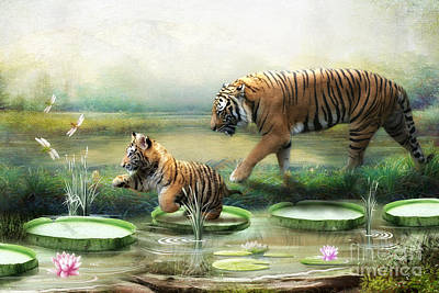 Tiger Lily Poster by Trudi Simmonds
