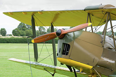 Poster featuring the photograph Tiger Moth Propeller by Gary Eason