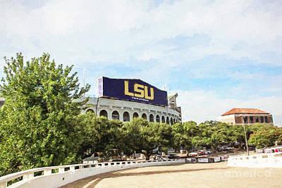 Tiger Stadium Football - Digital Painting Poster