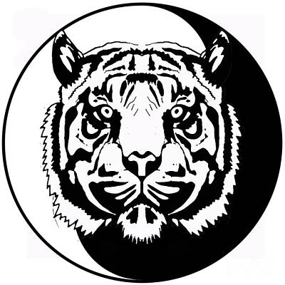Tiger Symbol Poster by Stephen Humphries