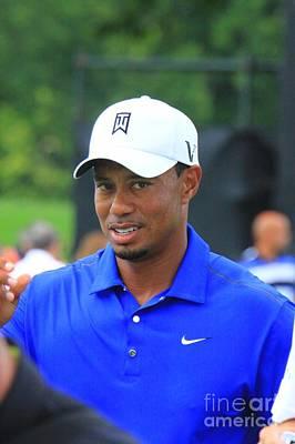 Pro Golfer Tiger Woods Poster