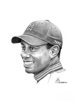 Tiger Woods Smile Poster by Murphy Elliott