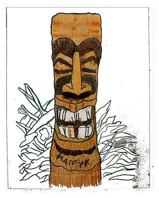 Tiki Art Poster by W Gilroy