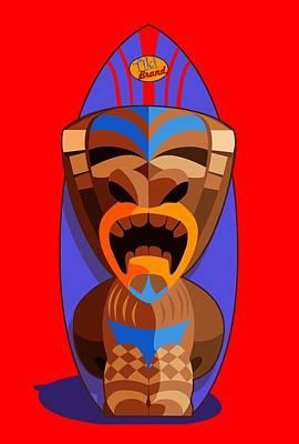 Tiki Brand Surfer Poster by Ron Regalado