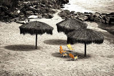 Tiki Huts Fusion Poster by John Rizzuto