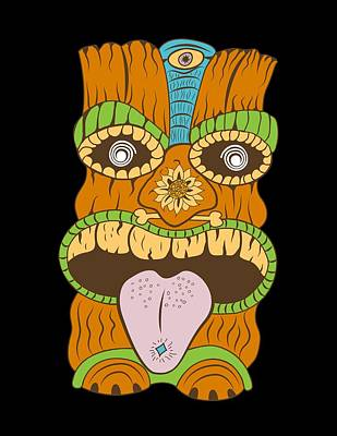Tiki With Purple Tongue Poster by Stevan Sos