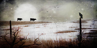 'til The Cows Come Home Poster by Theresa Tahara
