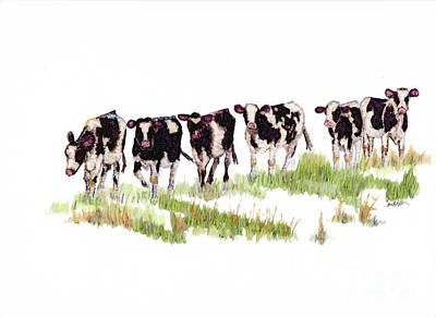 Till The Cows... Poster by Jan Killian
