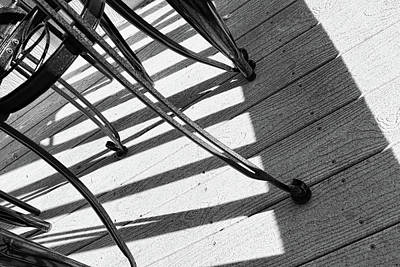 Tilt Two Black And White Photograph Poster by Ann Powell