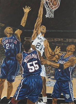 Tim Duncan Poster by Roger W Price