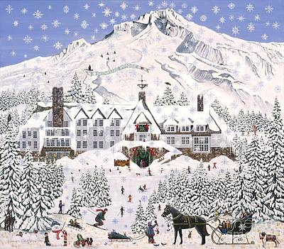 Timberline Lodge Poster by Jennifer Lake