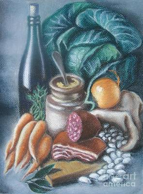 Poster featuring the painting Time For Soup by Inese Poga