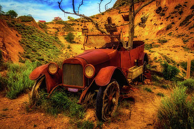 Time Forgotten Rusting Car Poster by Garry Gay