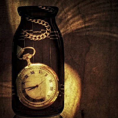 Time In A Bottle Poster by Susan Candelario
