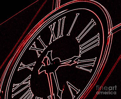 Time In Red And Black Poster